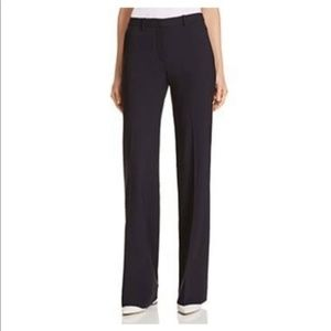Theory Black Straight Leg Trousers Pants